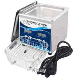 1.3L Digital Ultrasonic Cleaner Jewelry Ultra Sonic Bath Degas Parts Cleaning