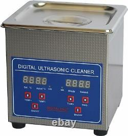 1.3L Stainless Steel Ultrasonic Cleaner Cleaning Machine JPS-08A 110V/220V