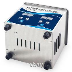 1.3L Ultrasonic Cleaner Bath 120W Power Ultrasound 40KHZ Heater Digital Timer