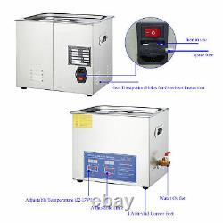 10L 2.6Gal Digital Ultrasonic Cleaner withTimer & Heater Ultrasound Clean Machine