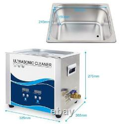 10L Digital Ultrasonic Cleaner Jewelry Ultra Sonic Bath Degas Parts Cleaning
