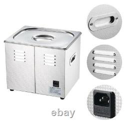 10L Digital Ultrasonic Cleaner Jewelry Watch Rings Home Industry Heater Tank