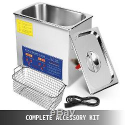 10L Liter Industry Heated Ultrasonic Cleaners Cleaning Equipment Heater withTimer