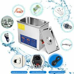 10L Professional Digital Ultrasonic Cleaner Machine with Timer Heated Cleaning