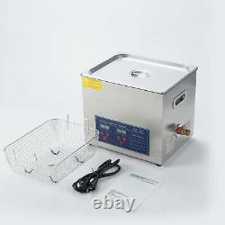 10L Ultrasonic Cleaner 304SS withTimer for Cleaning Jewelries Glasses Watches etc