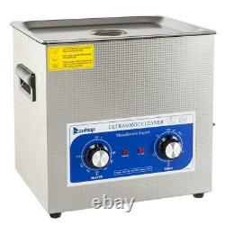10L Ultrasonic Cleaner Bath Solution Jewelry Glasses Carbs Lab Clinic Heated