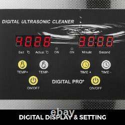10L Ultrasonic Cleaner Heater Timer 400W 40KHz Jewelry Cleaning Machine