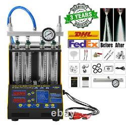 110V Ultrasonic Fuel Injector Cleaner Cleaning Teater Machine For Car Motorcycle