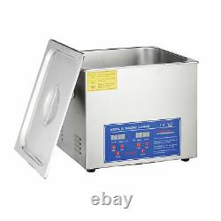 15L Commercial Heated Ultrasonic Cleaner with Digital Timer for Jewelry Dentures