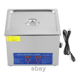 15L Digital Dental Industry Heated Cleaning Machine Jewelry Glass Stainless