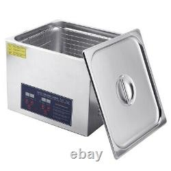 15L Digital Ultrasonic Cleaner Bath Timer Stainless Tank Jewelry Cleaning 760W