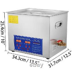 15L Industry Ultrasonic Digital Cleaners Cleaning Equipment Heater withTimer