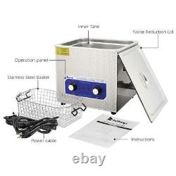 15L Stainless Steel Digital Ultrasonic Cleaner Sonic Cleaning Equipment Parts US