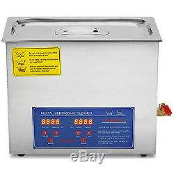 15L Ultrasonic Cleaner Stainless Steel Industry Heated Heater withTimer US Stock