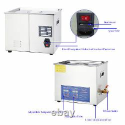 15l Qt Ultrasonic Cleaner 400W Digital Heated Industrial Parts with Timer & Heater