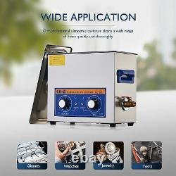 180W CO-Z Ultrasonic Cleaner with Heater and Timer 6L Sonic Cavitation Machine