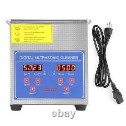 2/3L Stainless Steel Industry Ultrasonic Cleaner Heated Heater with Digital Timer