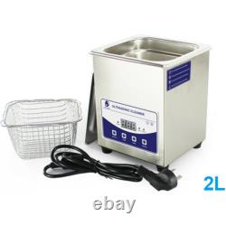 2 Liter, Stainless Steel Industry Heated Ultrasonic Cleaner Heater Timer