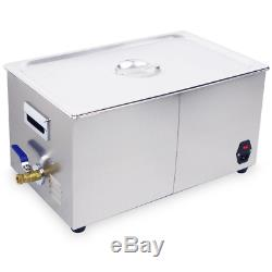 22L Digital Ultrasonic Cleaner Jewelry Ultra Sonic Bath Degas Parts Cleaning