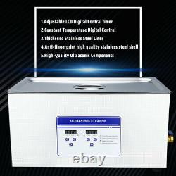 22L Digital Ultrasonic Cleaner Machine Disinfector WithTimer&Heater