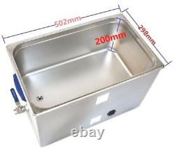 28L Industrial large Ultrasonic Cleaner LCD Display 480W for Hospital Tool parts