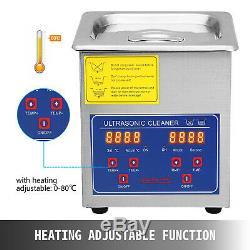2l Qt Ultrasonic Cleaner 110w Digital Heated Industrial Parts