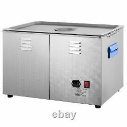 30L 600w Digital Ultrasonic Cleaner with Heater 28/40KHz Large Tub Basket Degas