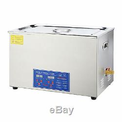 30L Commercial Heated Ultrasonic Cleaner with Digital Timer for Jewelry Dentures