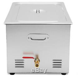 30L Industrial Ultrasonic Cleaners Cleaning Equipment Heater Timer Digital New