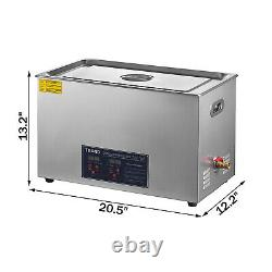 30L Liter Ultrasonic Cleaner Stainless Steel Industry Heated Heater withTimer