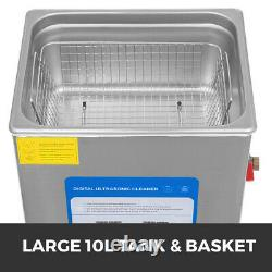 316 Stainless Steel 10L Industry 200w Ultrasonic Cleaner Variable frequency