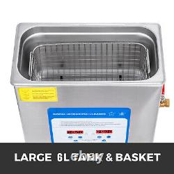 316 Stainless Steel 6L Ultrasonic Cleaner Stainless Steel Heater WithBall Basket