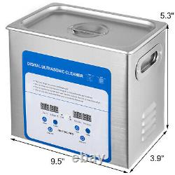 316 Stainless Steel Ultrasonic Cleaner Jewelry Cleaner withHeater Timer