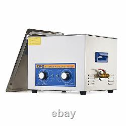 360W Ultrasonic Cleaner with Heater &Timer, 15L Ultrasonic Cleaning Machine