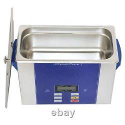 4L Ultrasonic Cleaner Bath LCD Display Degas Digital PCB Printer Heads Washer