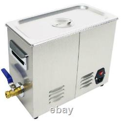 6.5L Digital Ultrasonic Cleaner Jewelry Ultra Sonic Bath Degas Parts Cleaning