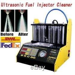 6 Cylinder Ultrasonic Fuel Injector Cleaner Tester AUTOOL CT 200 for Car Motor