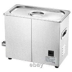6L 400W Ultrasonic Cleaner Cleaning Equipment Industry Heated With Timer Heater