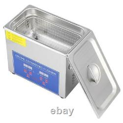 6L Digital Ultrasonic Cleaner Ultra Sonic Bath Heated Parts Jewelry Cleaning