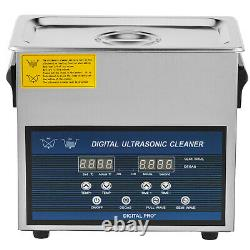 6L Digital Ultrasonic Cleaner with Heater 28/40KHz Cavitation Large Heating