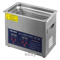6L Ultrasonic Cleaner Industry Heated Stainless Steel Jewelry Glasses Cleaning