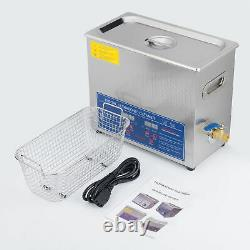 6L Ultrasonic Cleaner Machine for Jewelry Glass Polishing withTimer&Heater
