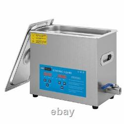 6L Ultrasonic Cleaner Stainless Steel Industry Heated Heater withTimer
