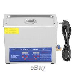 6L Ultrasonic Cleaner Stainless Steel Industry Heated Heater withTimer F. Jewelry