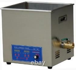 80KHZ High Frequency Ultrasonic Cleaning Machine 10L Ultrasonic Cleaner t