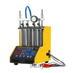 AUTOOL CT150 4-Cylinder Ultrasonic Fuel Injector Cleaner Tester for Car Motor