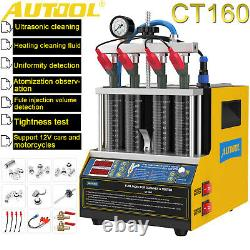 AUTOOL CT160 Injector Tester 4-Cyliner Ultrasonic Cleaner Machine Car Motorcyle