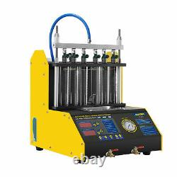AUTOOL CT200 6 Cylinder Fuel Injector Cleaning Machine Ultrasonic Cleaner Tester