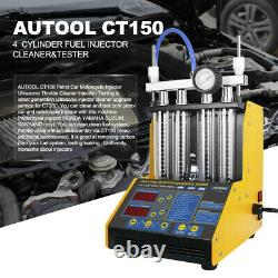 Autool CT150 220/110V Power Car Motor Ultrasonic Fuel Injector Tester Cleaner