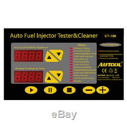 Autool CT150 Car Motorcycle Ultrasonic Fuel Injector Cleaner Tester Machine 220V